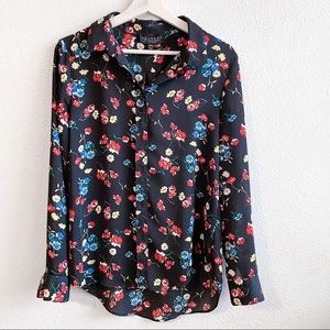 Laundry by Shelli Segal Black Floral Button